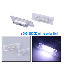 For Touran Canbus Led License Plate Light Led For VW Passat Auto Tail Light White LED Bulbs For Caddy MK3 Golf Jetta MK5 6000K(China)