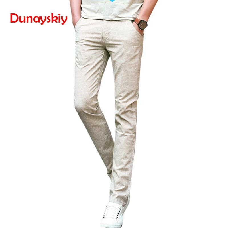 New Arrival 2020 Men's Clothing Summer Linen Casual Pants Solid Color Male Slim Fit Long Trousers Straight Male Trousers