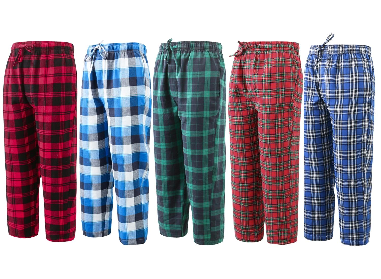 BAIYIXIN Young Big Boy's Cotton Plaid Pajama Pants Lounge Sleep Bottom Kids Boys  Pajamas 8 17Years|Matching Family Outfits| - AliExpress