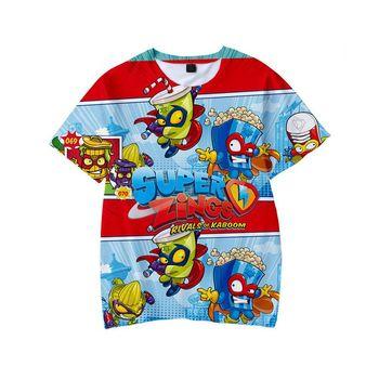 3D chłopcy Sonic Super Zings drukuj dziewczyny śmieszne koszulki Superzing dzieci 2021 na letnie ubrania ubrania dla dzieci kinder Baby tanie i dobre opinie POLIESTER spandex CN (pochodzenie) moda Zwierząt REGULAR Z okrągłym kołnierzykiem tops Z KRÓTKIM RĘKAWEM krótkie