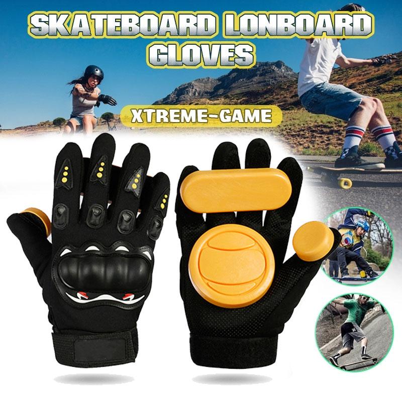 Longboard Skateboard Gloves Skateboard Gloves Armguard Slider Protector Black Skateboard Brake Gloves Slide Palm Protective