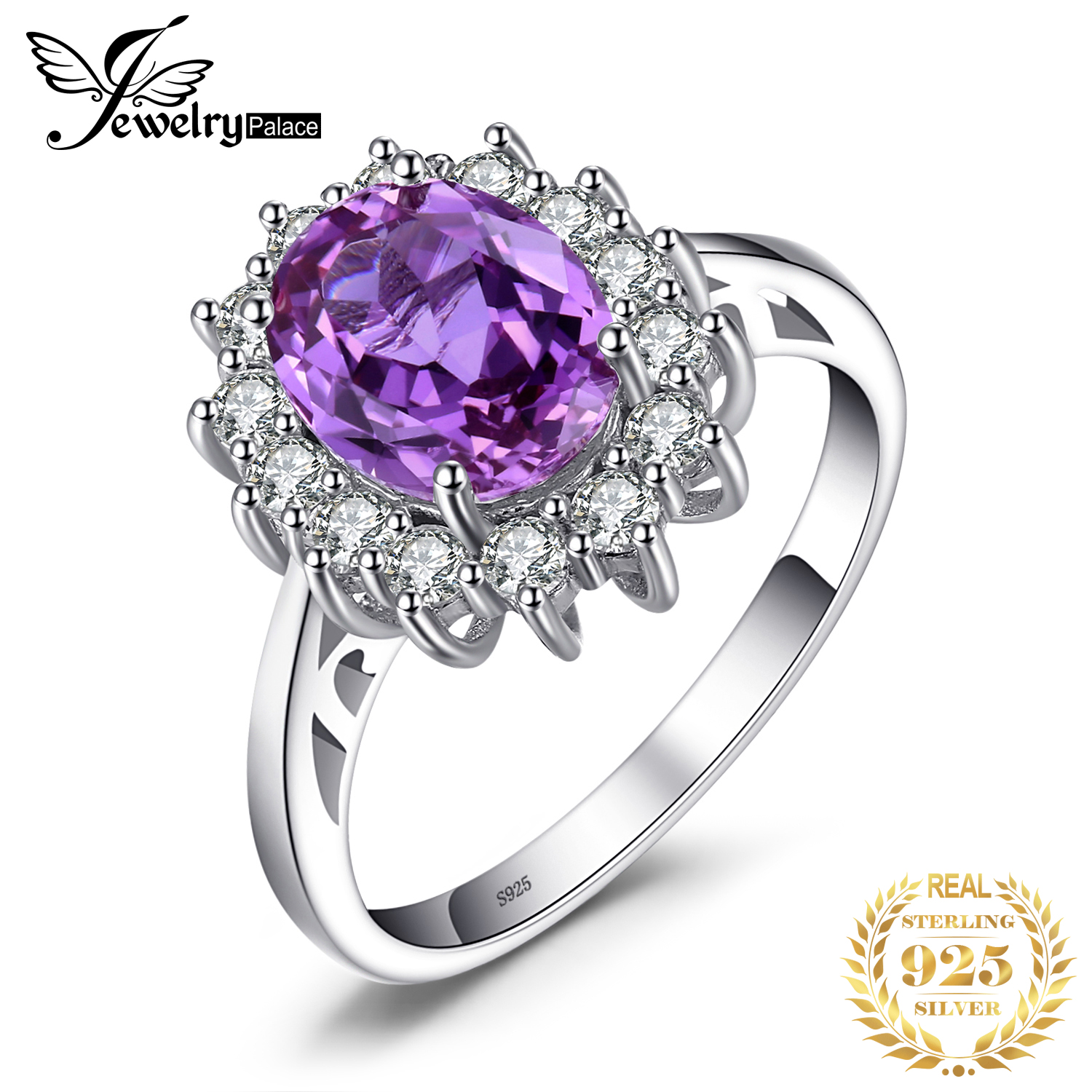 JPal Princess Created Alexandrite Sapphire Ring 925 Sterling Silver Rings For Women Engagement Ring Silver 925 Gemstones Jewelry