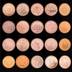 Монеты для Европы, 19 стран, 1 цент, монеты для еврозоны, оригинальные монеты, новые UNC