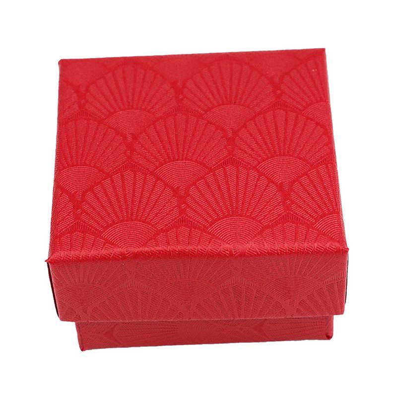 新しいホタテジュエリーディスプレイギフトボックスホルダーリングネックレスイヤリングブレスレットケースウェディング婚約ジュエリーボックス高品質