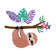 Sloth Leaves Branches Metal Cutting Dies for Scrapbooking and Cards Making Embossing Craft