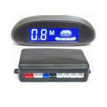 Capteur de stationnement LED détecteur de voiture automatique affichage de LED Parktronic système de surveillance de radar de recul inverse avec 4 radar de stationnement