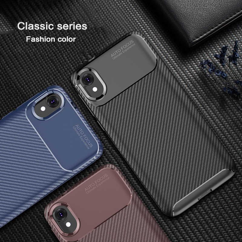 Nueva carcasa trasera de carbono para MOTO E6 G6 G7 Plus Power Z3 Z4 E5 Play GO P30 P40 Note One, cubierta de visión funda protectora de silicona