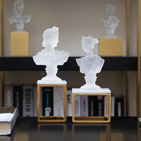 Transparent Ancient Greek Mythology Statue Resin Figurine Modern Ornaments Wedding Christmas Gift Home Decoration Accessories