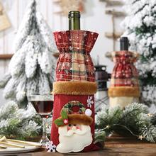Linen Wine Bottle Cover Creative Champagne Bag Exquisite Christmas Holi