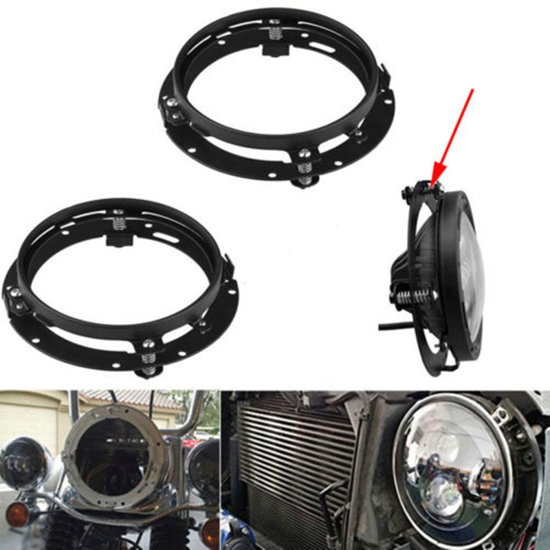 7inch Round Mounting Bracket Ring 7 Inch Led Headlight Mount Lamp Holder For Motorcycle Touring Jeep Wrangler JK TJ