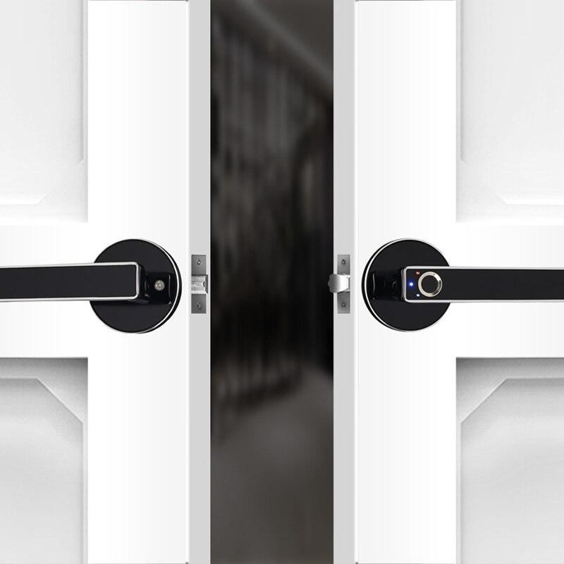 Nouveau-serrure de porte intelligente serrure sans clé à la maison serrure électronique biométrique d'empreinte digitale intelligente pour la maison et le bureau