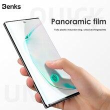 Benks AGC 3D courbe couverture complète verre trempé pour Samsung Galaxy Note 10 Plus 10 + protecteur décran HD 0.3mm Film de protection en verre