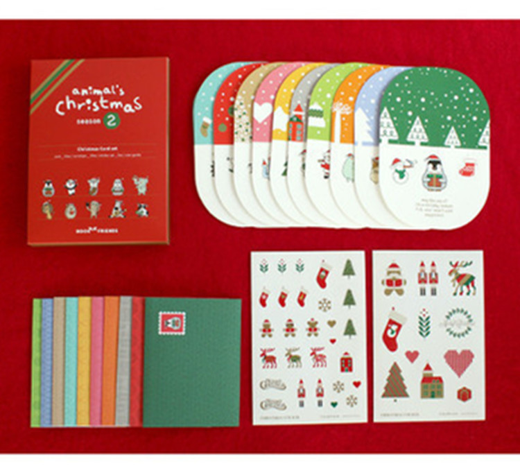 50sets Creative Merry Christmas Cards Envelope 3D Greeting Cards With Envelope For Wish And Greeting Letter Set Cute Envelopes