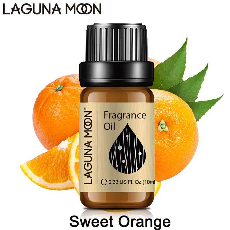 Lagunamoon 10ml Fragrance Oil Coffee Orange Lotus Gardenia Chocolate Milk Jasmine Peppermint Patchouli Coconut Oil Perfume Aroma
