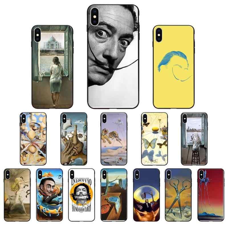 Salvador Dali Art Soft Silicone TPU Phone Cover For iphone 12 SE2 12 11 Pro XS MAX XS XR 8 7 6 Plus 5 5S SE Case