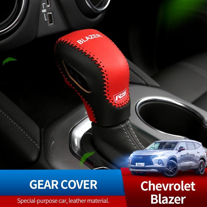 Модификация крышки шестерни специальная кожаная крышка шестерни декоративная автоматическая крышка шестерни для Chevrolet Blazer 2020