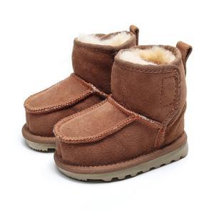 Image 3 - Geanuine Leather Australia Shoes 소년과 소녀를위한 아기 스노우 부츠 Kids Snow Boots 양모 리얼 모피 신발 Children 2020 new