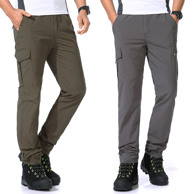 Quick Drying Pants Men's Thin Type For Spring And Autumn Outdoor Casual Sports Pants Men's Korean-style Trend Straight-Cut Pants