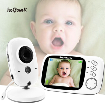 цена на VB603 Wireless Baby Monitor with 3.2 inch LCD Night Vision Security Temperature Camera Video Color Surveillance Security Camera
