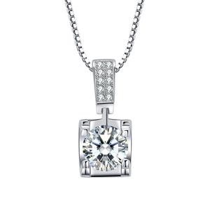 Image 5 - BOEYCJR 925 כסף 0.5ct/1ct/2ct F צבע Moissanite VVS אירוסין אלגנטי חתונה תליון שרשרת נשים שנה מתנה