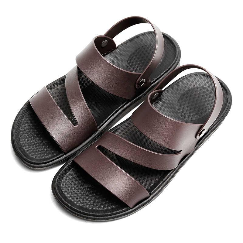 2019 di estate Scarpe Da Spiaggia Pantofole di Vibrazione Degli Uomini di Cadute di Sandali Da Spiaggia Uomini Sandali De Hombre Masculino Uomini Scarpe Sandali Gladiatore A Buon Mercato