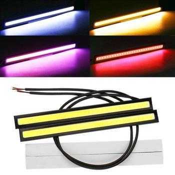 2PCS Universal Waterproof Daytime Led Day Light DRL Lamp 17cm Running Lights COB Fog Lamp Car Styling Led Daytime Running Light image