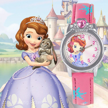 New Style Princess Elsa Child Watches Cartoon Anna Crystal Princess Kids Watch For Girls Student Children Clock Wrist Watches relogio new cartoon leather quartz watch children watch orologi princess elsa anna watches boy girl gift clock relojes zegarki
