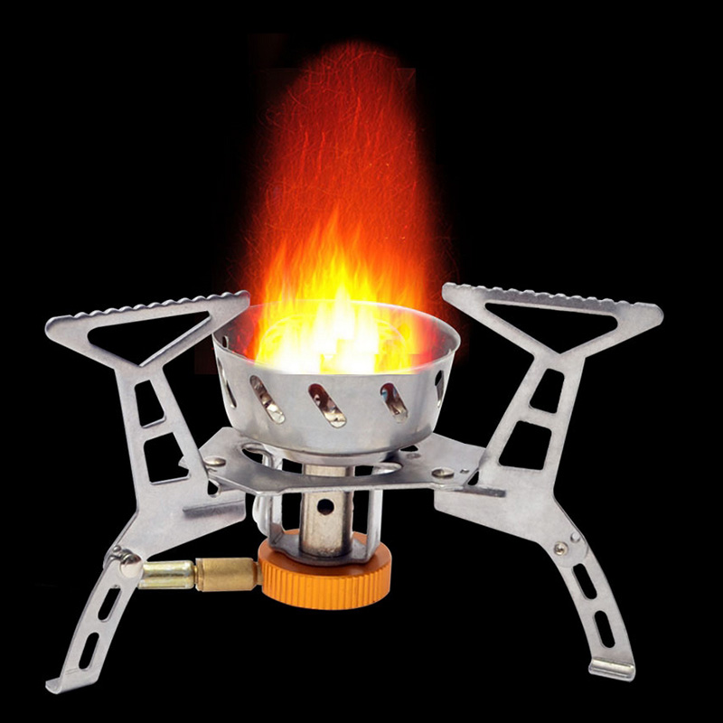 Portable Gas Stove Folding Aluminum Burner Bearing Swirling Flame Electronic Ignition 3000W Small Stove Burner Split Camping