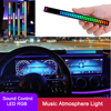 RGB Voice Control Audio Music Rhythm Lamp Colorful Car Music Atmosphere Light Voice-Activated Pickup Rhythm Lights