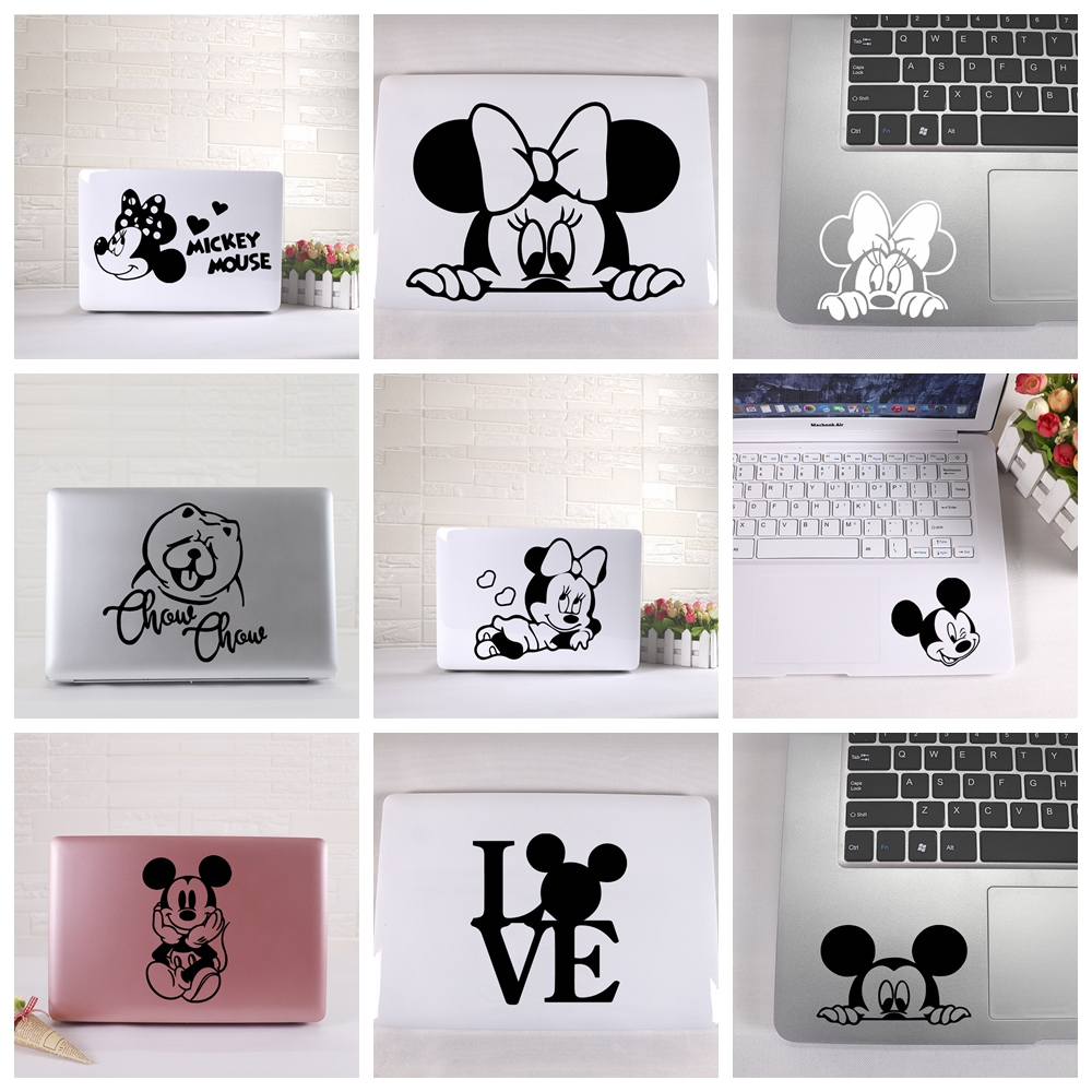 Laptop Sticker Cute Mickey Mouse Stickers For Laptop 11 12 15 Inch Headphone Laptop Skin Decoration