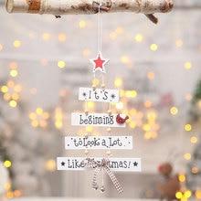 1Pcs High Quality Christmas Tree Ornaments Hanging Xmas Home Party Decor 3D Pendants Wooden Pendant Decoration