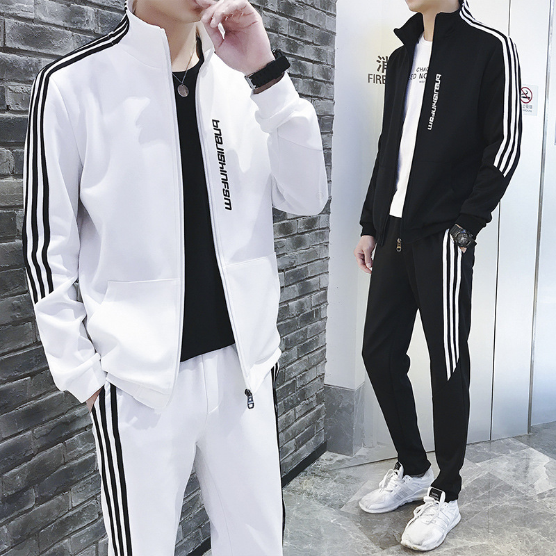 Sports Set Men Spring And Autumn Two-Piece Casual Couples Set Large Size Athletic Clothing Sportswear MEN'S Suit