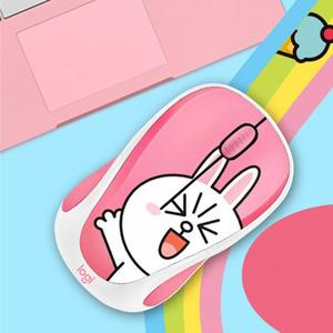 Image 3 - Logitech mignon dessin animé rose souris sans fil USB optique ordinateur Mini souris 2.4GHz Hamster conception petite main souris pour fille ordinateur portable