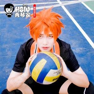 Image 3 - HSIU Anime Haikyuu!! Shoyo Hinata Cosplay Wig short orange Costume Play Wigs Halloween Costumes Hair