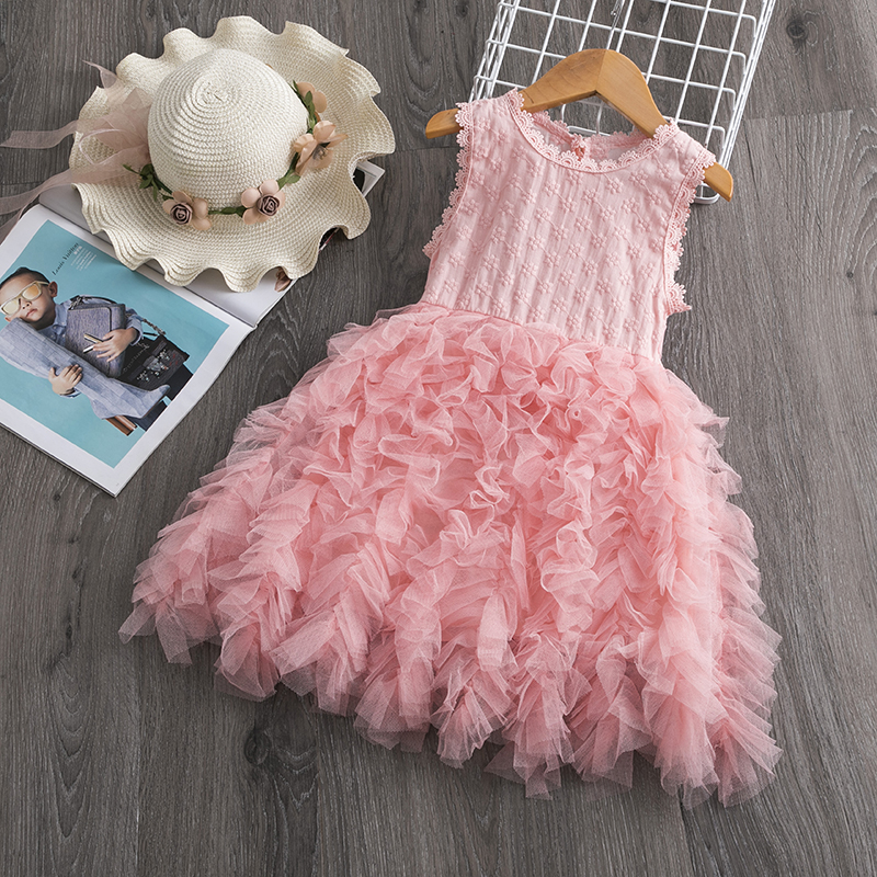 H6b2d057a77fe4d259ec6e746689b046cK Cute Girls Dress 2019 New Summer Girls Clothes Flower Princess Dress Children Summer Clothes Baby Girls Dress Casual Wear 3 8Y