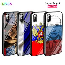 Black Cover Russian Flag Eagle for iPhone 11 11Pro X XR XS Max for iPhone 8 7 6 6S Plus 5S 5 SE Glossy Phone Case black cover kurdistan flag for iphone 11 11pro x xr xs max for iphone 8 7 6 6s plus 5s 5 se glossy phone case