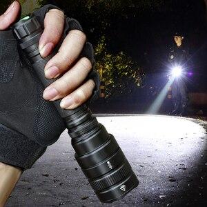 Самый мощный светодиодный фонарь XHP70.2, тактический фонарь, масштабируемый фонарь XHP50, перезаряжаемый фонарь, светильник для охоты, аккумуля...