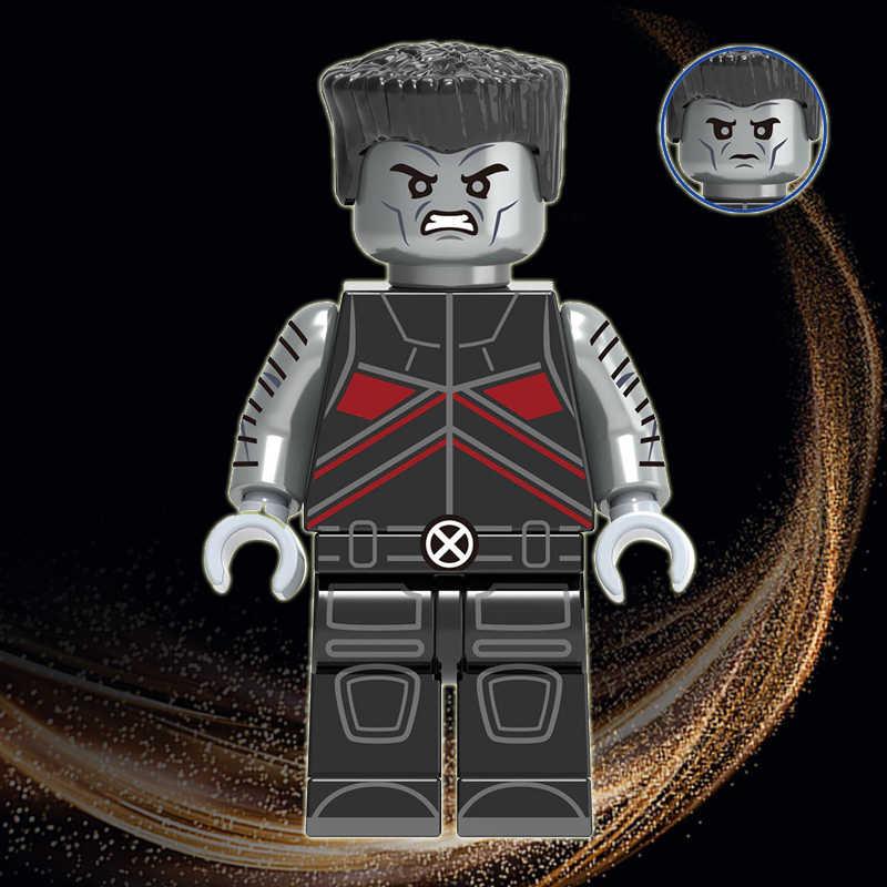 Colosso peter rasputin legoeinglys marvel gigante-tamanho x-men super heróis minifigurado rainha branca deadpool tijolos modelo brinquedos