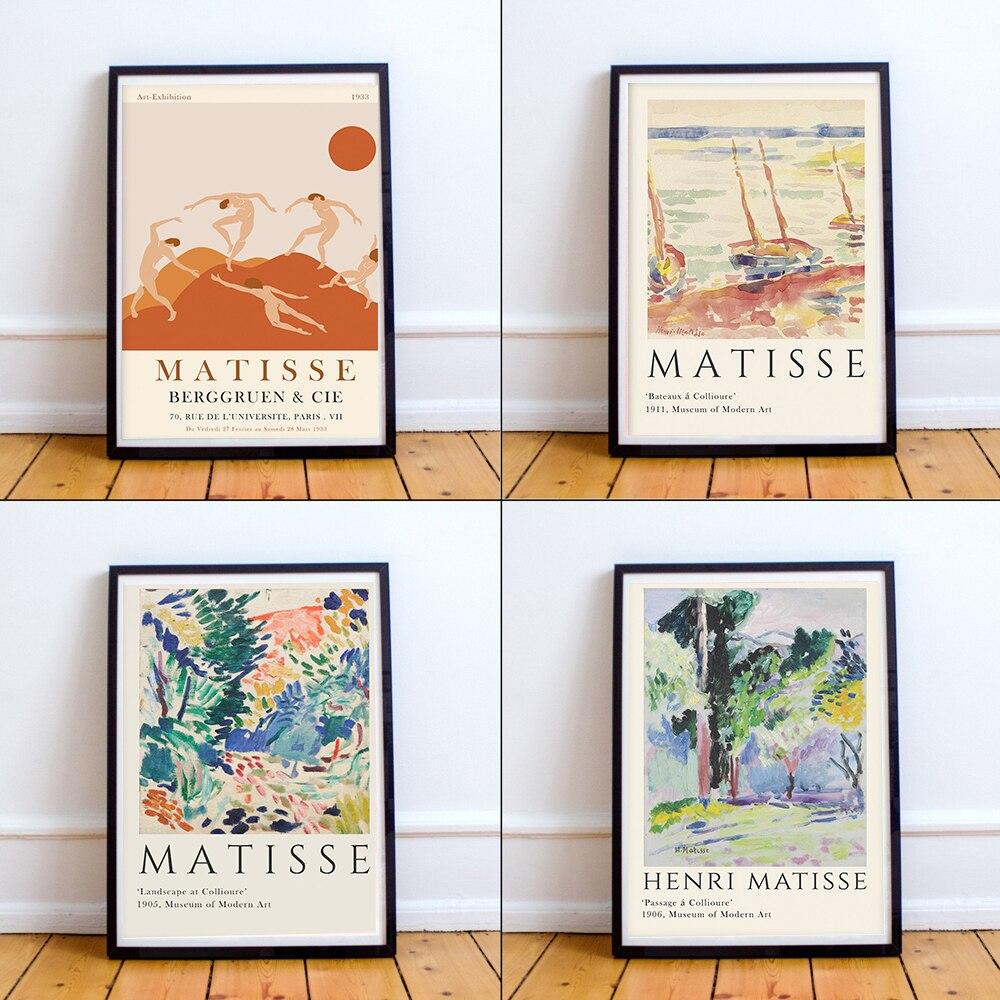 Henri Matisse Retro Poster Und Drucke Abstrakte Landschaft Wand ...