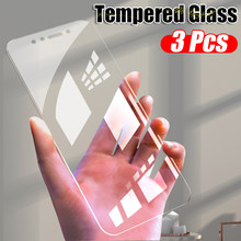 3Pcs Full Screen Tempered Glass For Xiaomi Redmi K20 Note 8 7 6 Pro 5 PLus Transparent Glass For Redmi Note 8 7A Protective Film(China)