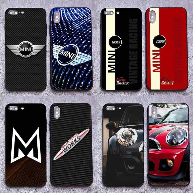 Car Mini Cooper Logo Coque Shell Phone Case for iphone 12 pro max 11 pro XS MAX 8 7 6 6S Plus X 5S SE 2020 XR case