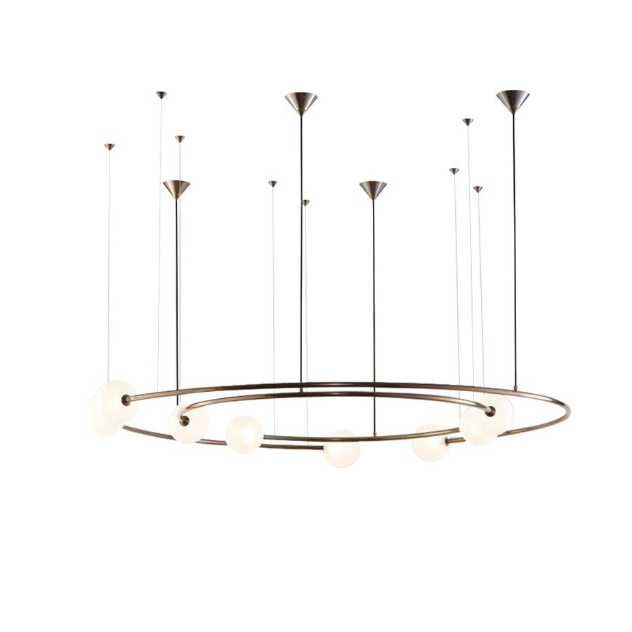 Planet Orbit Glas Ball LED Anhänger Lampe Wohnzimmer Decke Hängen Lichter Restaurant Hotel Schlafzimmer Deco Licht Enthalten Led-lampe