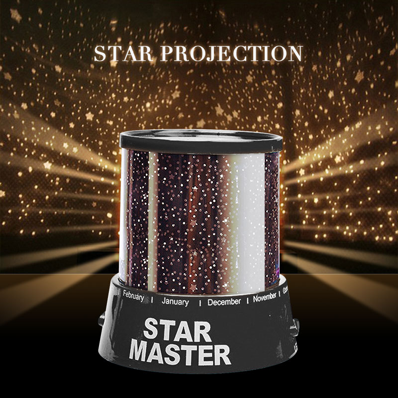 Starry Night LED Projection Projector Lamp Love Lights Baby Nursery Room Children Sky Master Dreamlike