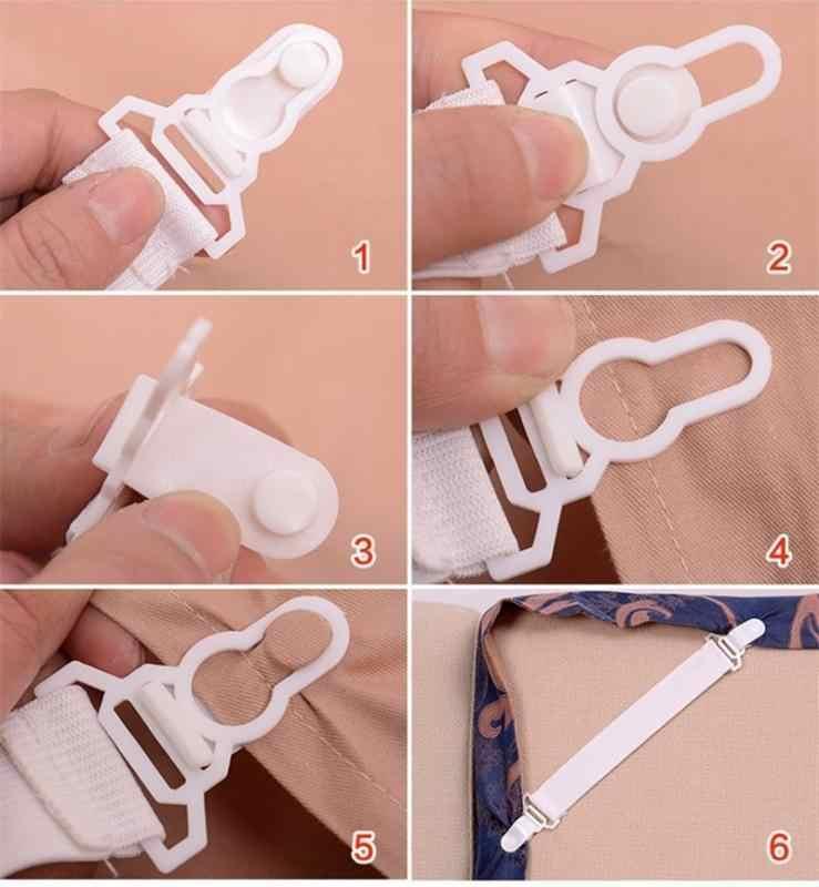 30 4 pièces/ensemble drap de lit fixe Clips forte Nylon boucle élastique porte bande drap de lit attaches pince pinces matelas accessoire