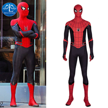 Manluyunxiao Spiderman Cosplay Halloween Costume for Kid Men Adult Spider Man Far From Home Peter Parker Jumpsuit Custom Made