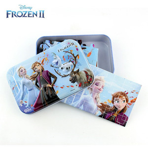 FROZEN 2 Marvel Avengers Spiderman Car Disney Puzzle Toy Children Wooden Jigsaw Puzzles Kids Educational Toys for Children Gift(China)