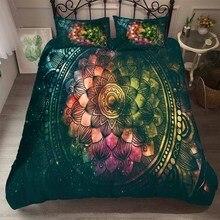 Juegos de cama Vintage personalizados Mandala funda de cama Floral 2/3 piezas Twin Full Queen King doble edredón funda para niño juego de ropa de cama