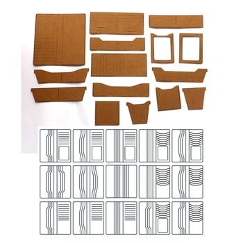 DIY leather craft long wallet universal heavy kraft paper cardboard 500gsm sewing pattern hollowed stencil template
