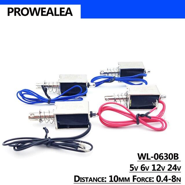 электромагнит с нажимным вытяжением модель wl 0630b 5 в 6 в фотография