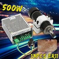 110 220 v 500 w motor do eixo com regulador de velocidade 52mm braçadeira para a máquina do cnc|Eixo da máquina-ferramenta| |  -